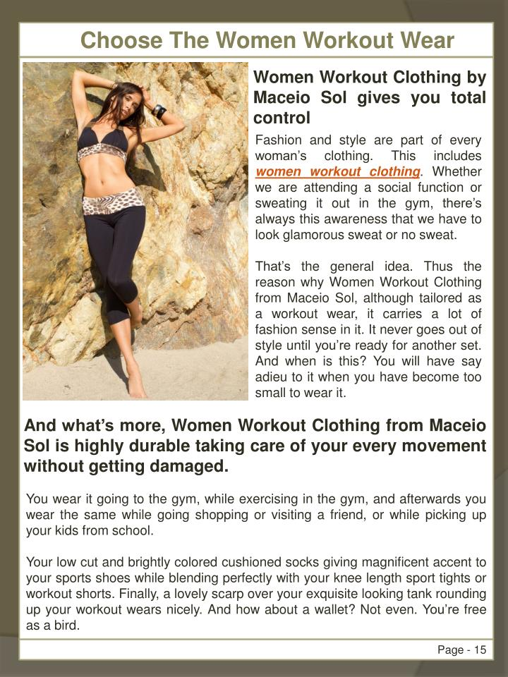 Choose The Women Workout Wear