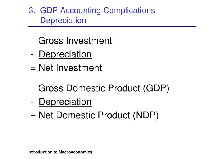 3.  GDP Accounting Complications