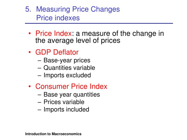 Measuring Price Changes
