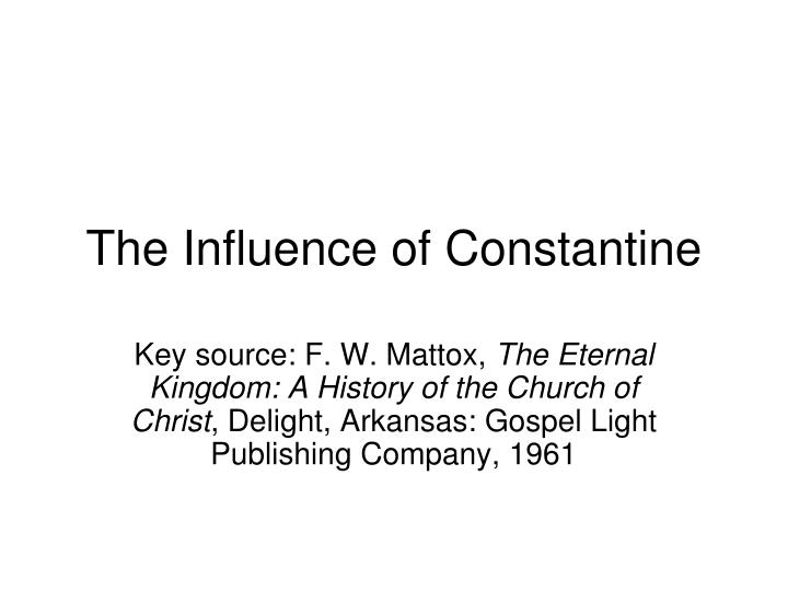 the influence of constantine n.