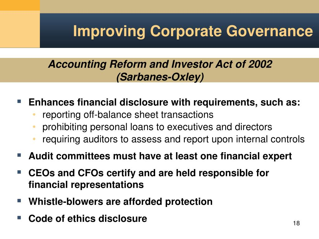 PPT - Corporate Governance: Foundational Issues PowerPoint