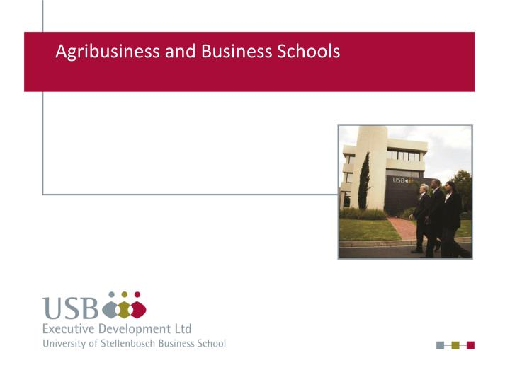 agribusiness and business schools n.