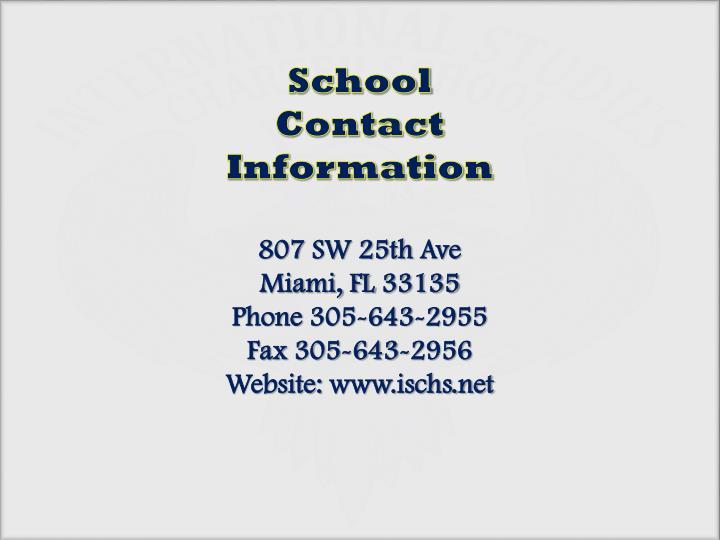 School Contact