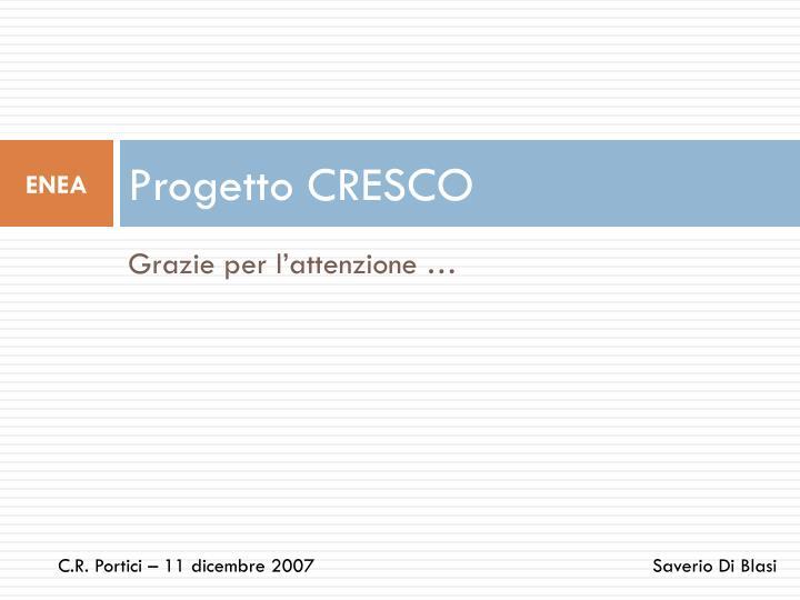 Progetto CRESCO