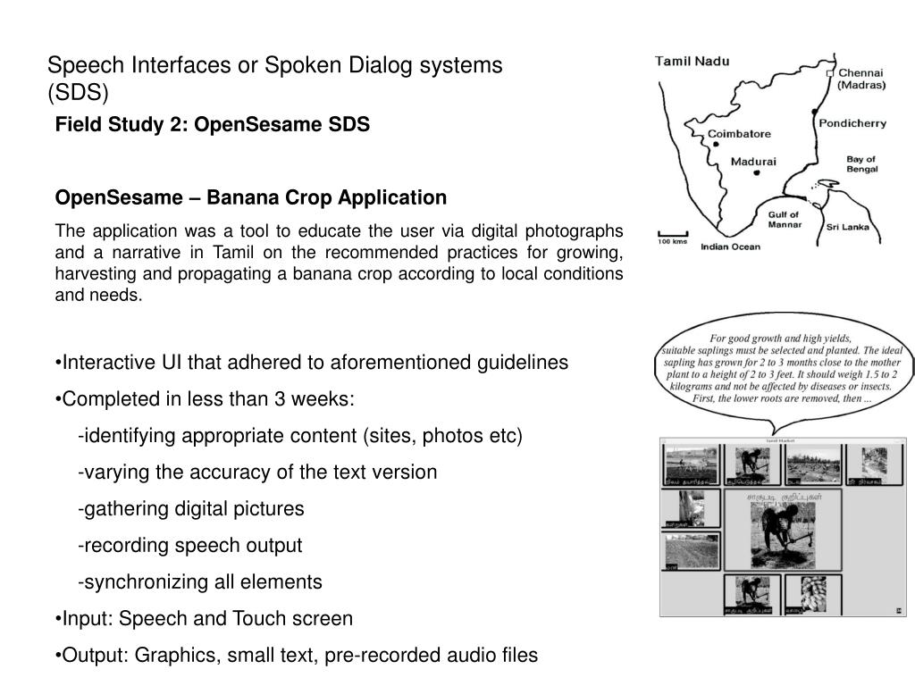 PPT - Speech Interfaces for Equitable Access to Information