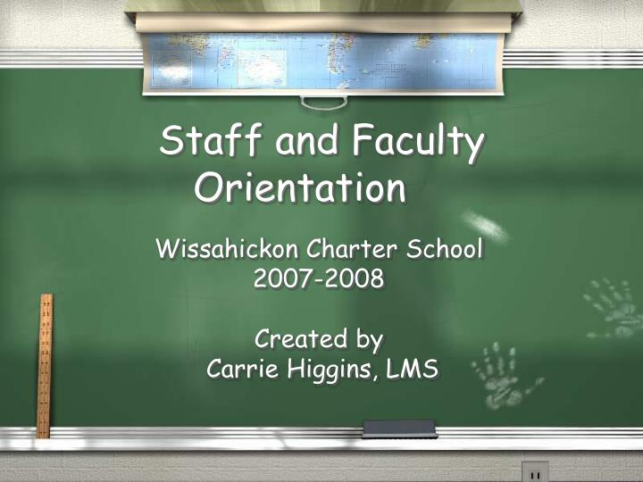 staff and faculty orientation n.
