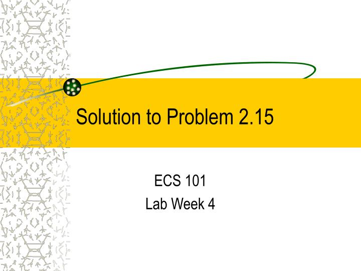 solution to problem 2 15 n.