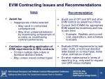 evm contracting issues and recommendations2