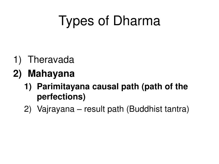 Types of dharma