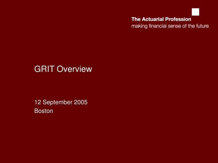 grit overview n.