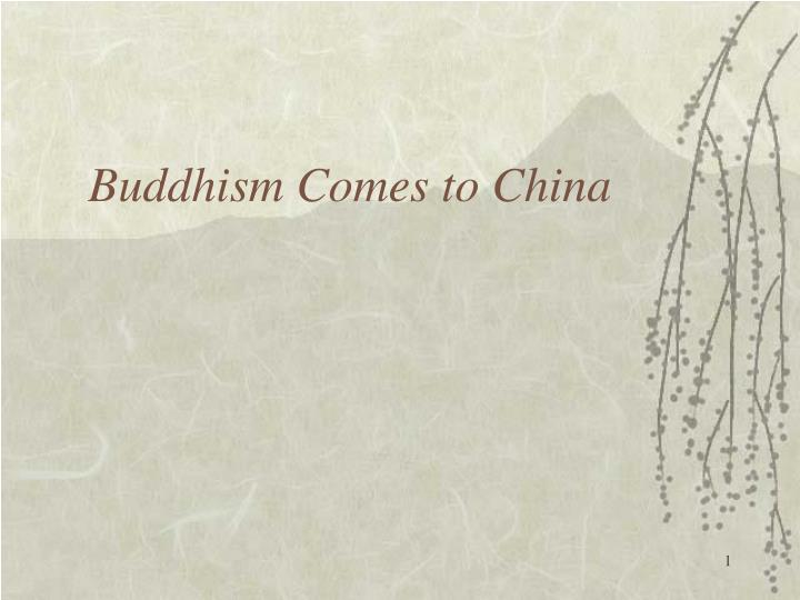 buddhism comes to china n.