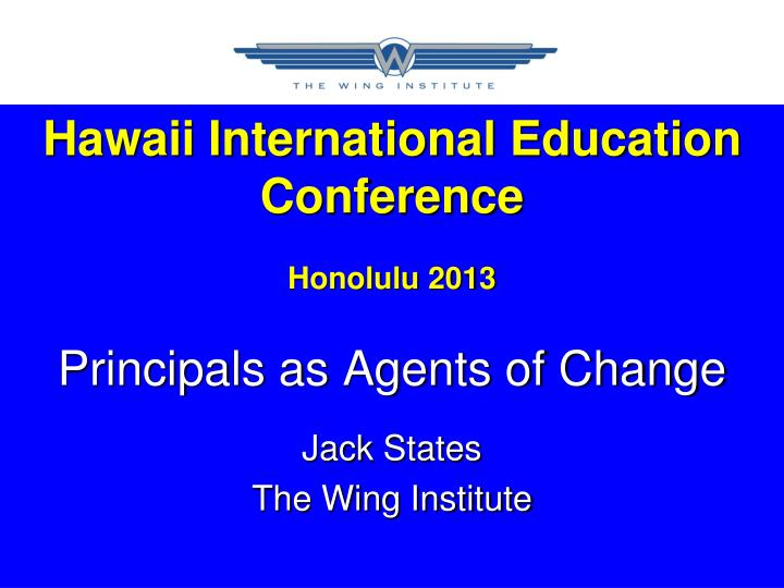 Hawaii International Education Conference