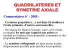 quadrilateres et symetrie axiale