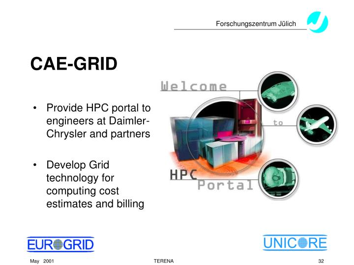 Provide HPC portal to engineers at Daimler-Chrysler and partners