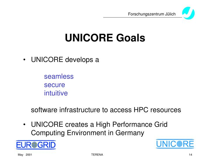 UNICORE Goals