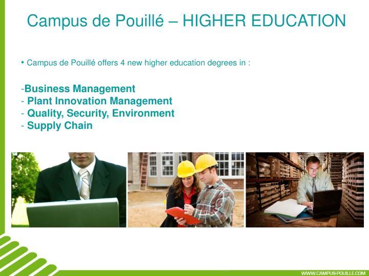 Campus de Pouillé – HIGHER EDUCATION