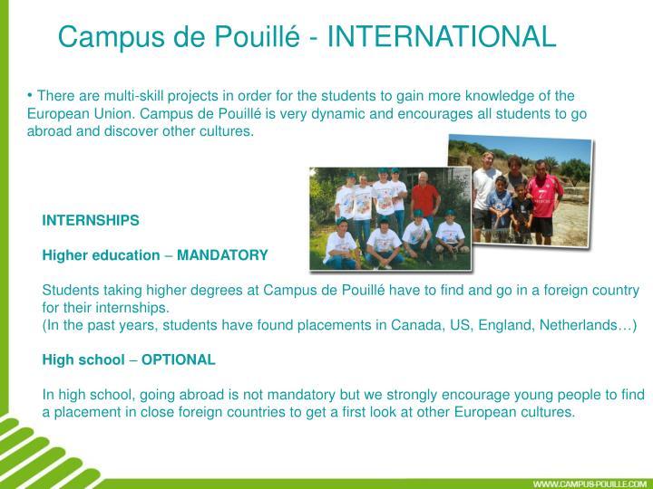 Campus de Pouillé - INTERNATIONAL