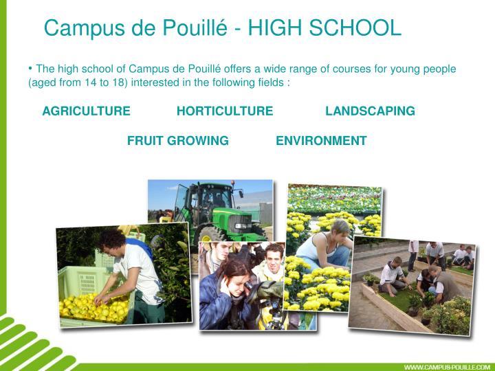 Campus de Pouillé - HIGH SCHOOL