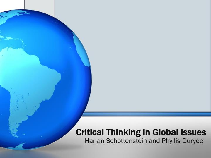 critical thinking in global issues n.