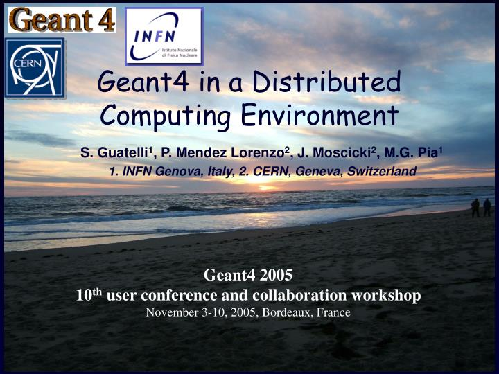 geant4 in a distributed computing environment n.