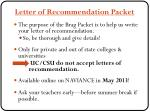 letter of recommendation packet