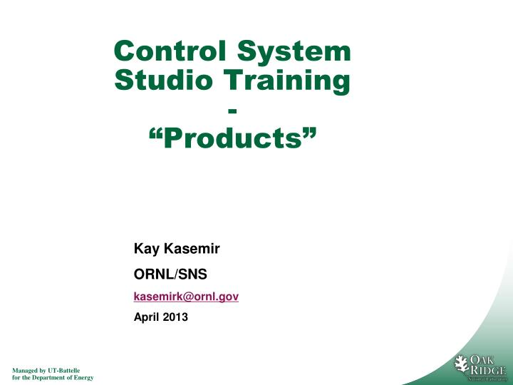 control system studio training products n.