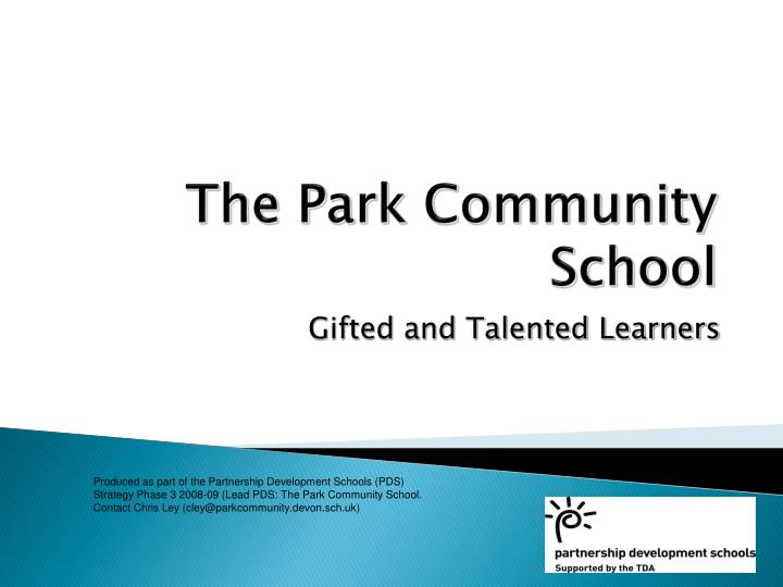 the park community school n.