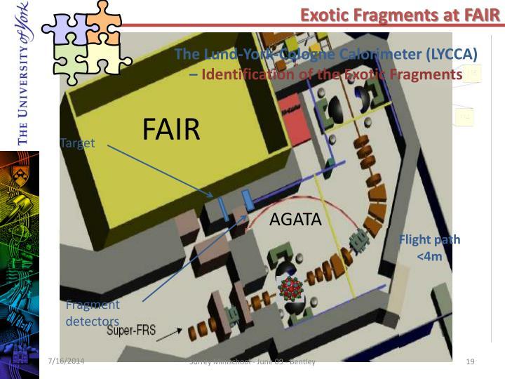 Exotic Fragments at FAIR