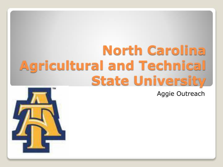 north carolina agricultural and technical state university n.