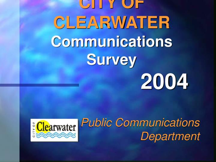 city of clearwater communications survey n.