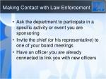 making contact with law enforcement1