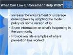 what can law enforcement help with
