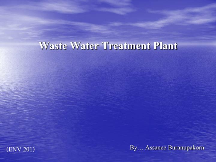 waste water treatment plant n.