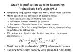 graph identification as joint reasoning probabilistic soft logic psl