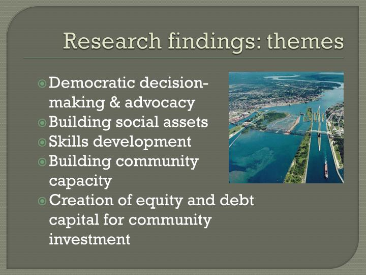Research findings: themes