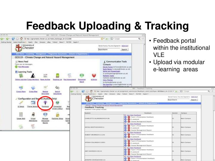 Feedback Uploading & Tracking