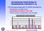 background monitoring of transmission continuity 3
