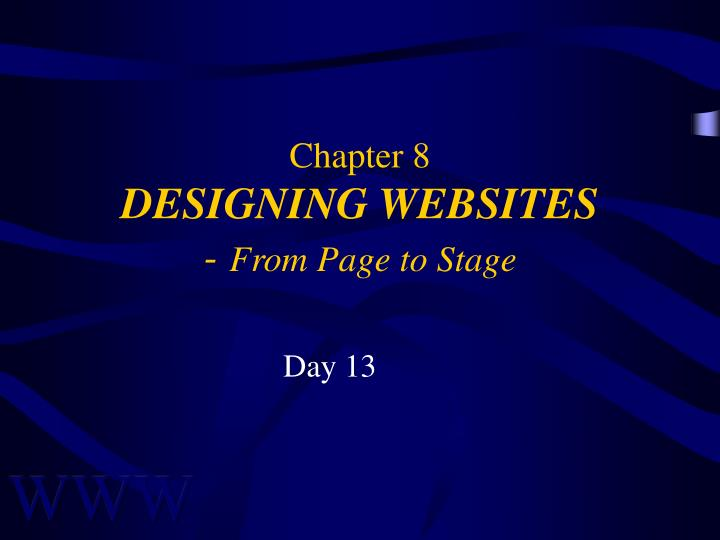 chapter 8 designing websites from page to stage n.