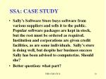 ssa case study