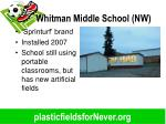 whitman middle school nw