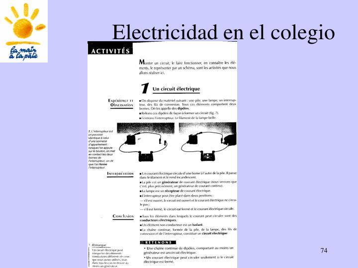 Electricidad en el colegio