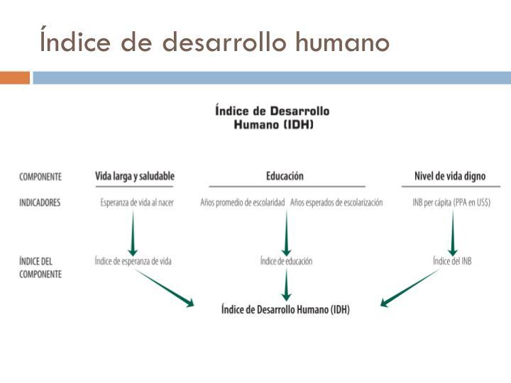 Ndice de desarrollo humano