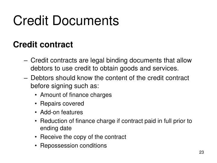 Credit Documents