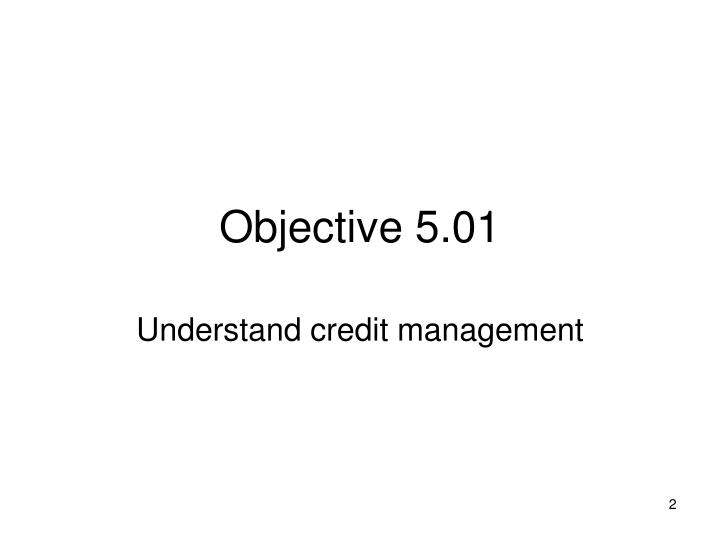 Objective 5 01