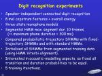 digit recognition experiments