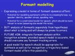 formant modelling