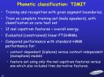 phonetic classification timit