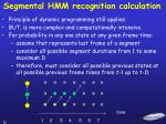 segmental hmm recognition calculation