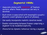 segmental hmms