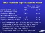 some connected digit recognition results